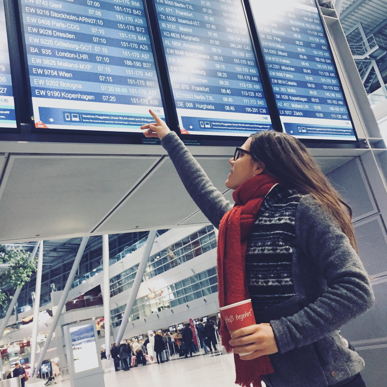 Auf dem Weg nach Stockholm am Flughafen Düsseldorf.